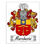 Marchesini Family Crest Small Poster