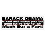 Obama Fart Bumper Sticker