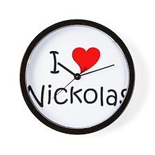 Cute I love nickolas Wall Clock