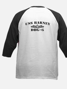 USS BARNEY Kids Baseball Jersey