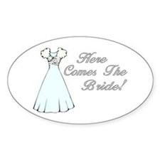 Here Comes The Bride (Wedding Dress) Decal