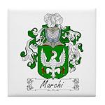 Marchi Family Crest Tile Coaster
