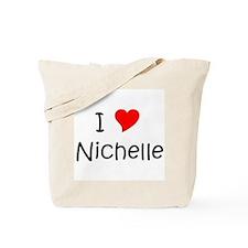 Unique I love nichelle Tote Bag