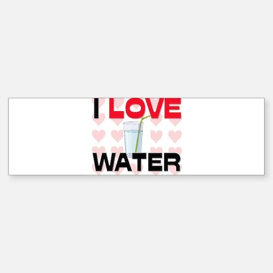 I Love Water Bumper Car Car Sticker