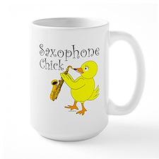 Saxophone Chick Mug