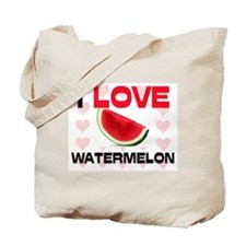 I Love Watermelon Tote Bag