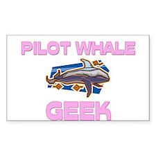 Pilot Whale Geek Rectangle Decal