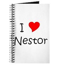 Cute I love nestor Journal