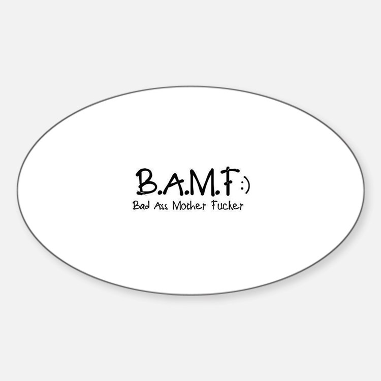 B.A.M.F Oval Decal