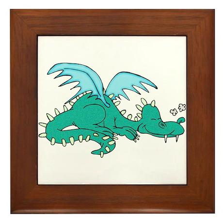 Baby Dragon Framed Tile