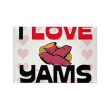 I Love Yams Rectangle Magnet