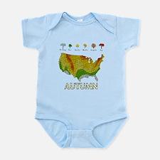 Fall Folige Map Infant Bodysuit