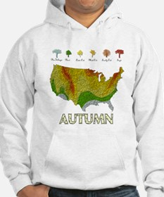 Fall Folige Map Hoodie Sweatshirt