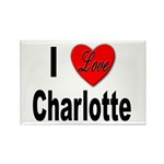 I Love Charlotte Rectangle Magnet (10 pack)