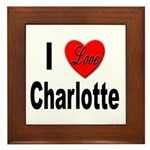 I Love Charlotte Framed Tile