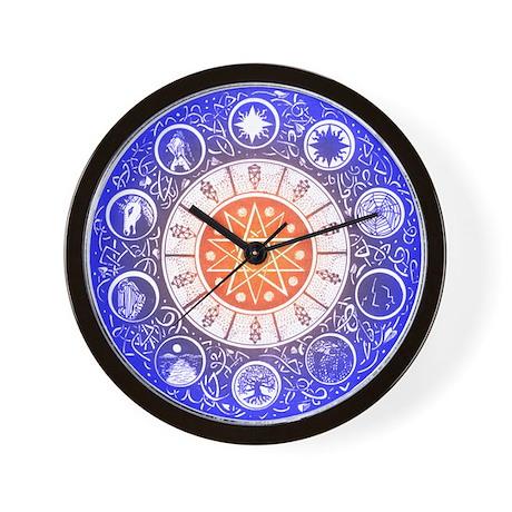 Sephirot Mandala Wall Clock by magicsephirot
