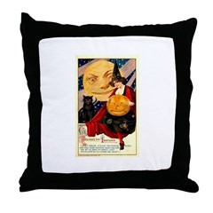 1912 Halloween Throw Pillow