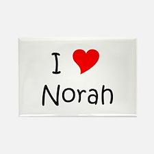 Cute Norah Rectangle Magnet