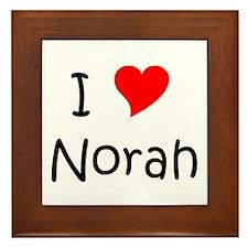 Cute Norah Framed Tile