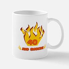 40 Years Old And Smokin' Mug