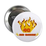 40 years funny Buttons