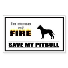 SAVE MY PITBULL 'In Case of Fire...' Decal