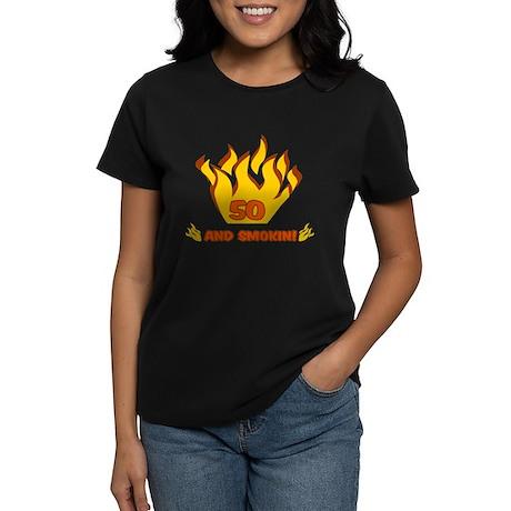 50 Years Old And Smokin' Women's Dark T-Shirt