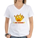 50 Years Old And Smokin' Women's V-Neck T-Shirt