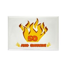 50 Years Old And Smokin' Rectangle Magnet
