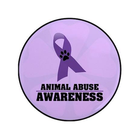"""Animal Abuse Awareness 3.5"""" Button"""