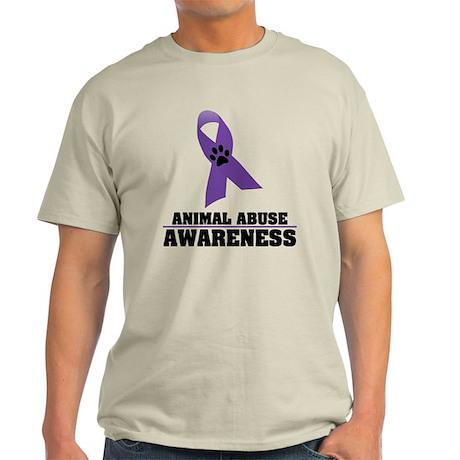 Animal Abuse Awareness Light T-Shirt