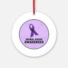 Animal Abuse Awareness Ornament (Round)