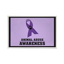 Animal Abuse Awareness Rectangle Magnet