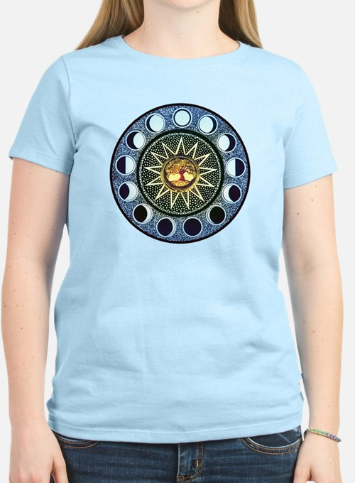 Moon Phases Mandala T-Shirt