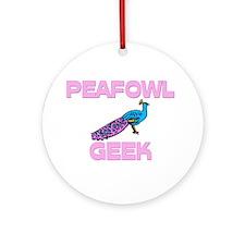 Peafowl Geek Ornament (Round)