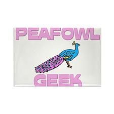 Peafowl Geek Rectangle Magnet