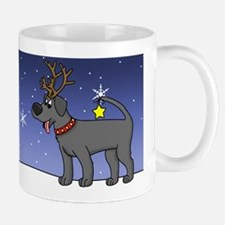 Reindeer Black Lab Mug