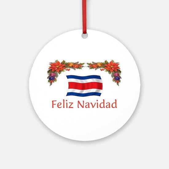 Costa Rica Feliz Navidad 2 Ornament (Round)