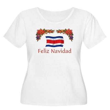 Costa Rica Feliz Navidad 2 Women's Plus Size Scoop