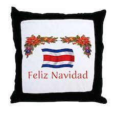 Costa Rica Feliz Navidad 2 Throw Pillow