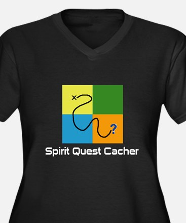 Spirit Quest Cacher Women's Plus Size V-Neck Dark