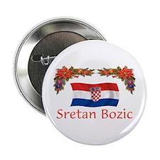 "Croatia Sretan Bozic 2 2.25"" Button"