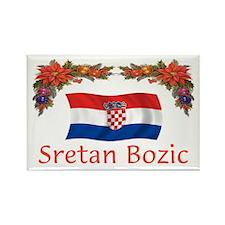 Croatia Sretan Bozic 2 Rectangle Magnet