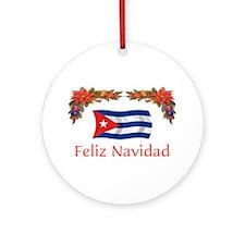 Cuba Feliz Navidad 2 Ornament (Round)