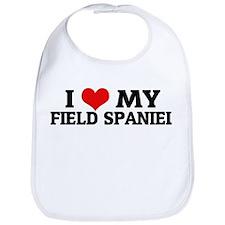 I Love My Field Spaniel Bib