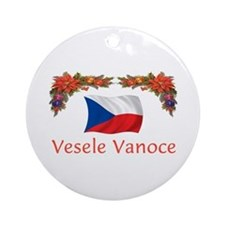 Czech Vesele Vanoce 2 Ornament (Round)