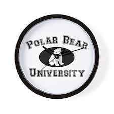 Polar Bear University Wall Clock