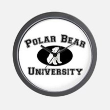 Polar Bear University Wall Clock