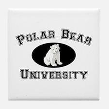 Polar Bear University Tile Coaster