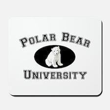 Polar Bear University Mousepad
